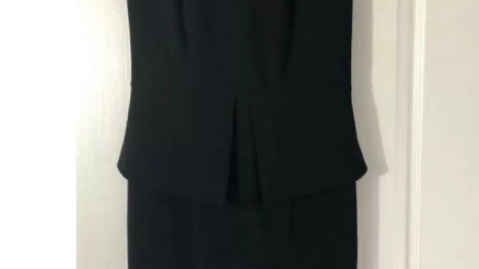 Women's / Ladies Black & Gold Back Oasis Dress Party / Night Out Size 8