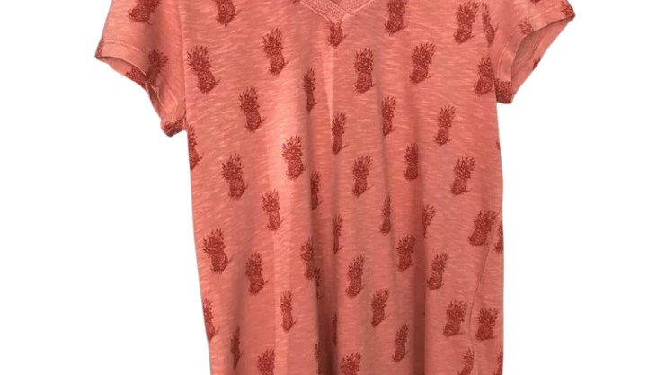 Womens / Ladies White stuff Peach Short Sleeve T-Shirt size 12 Excellent