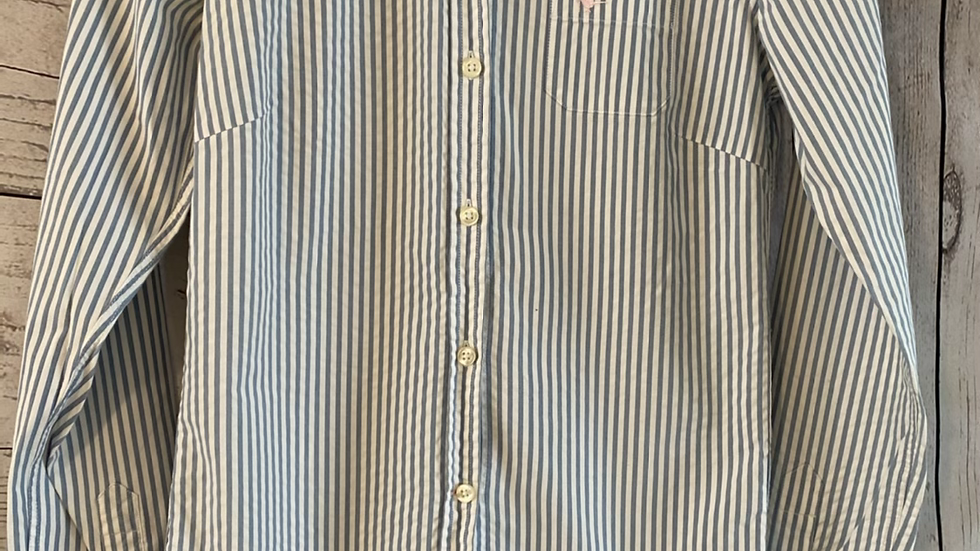Womens / Ladies Jack Wills White & stripe Shirt Size 8 Excellent Condition