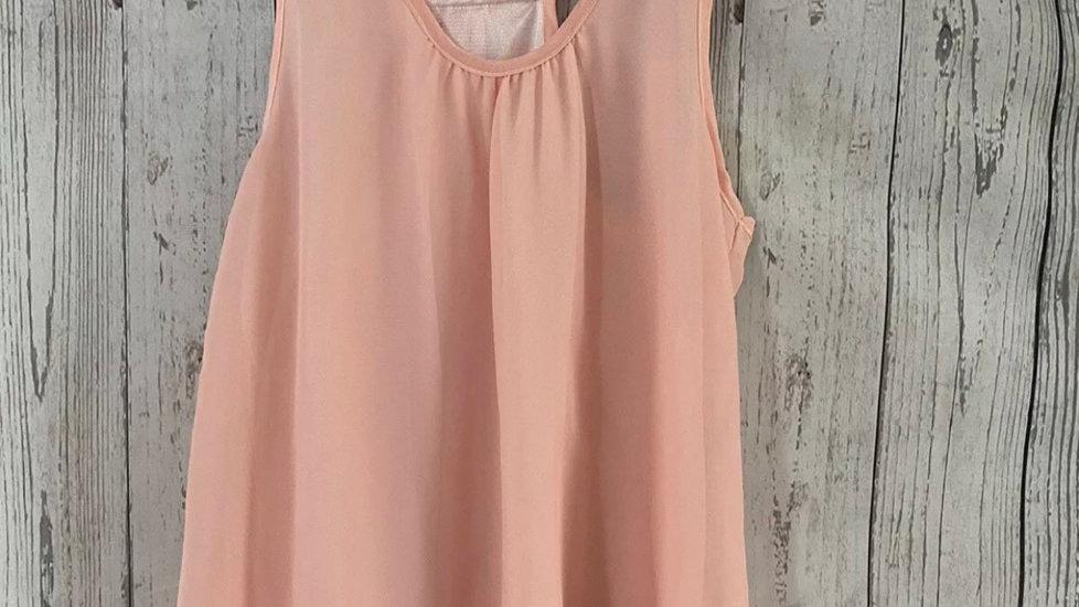 Womens / Ladies Peach Vest Top Size 10 -12 Good Condition