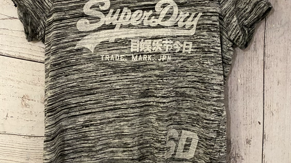 Womens / Ladies Vintage Superdry Grey T-shirt Size XS - Excellent Condition.