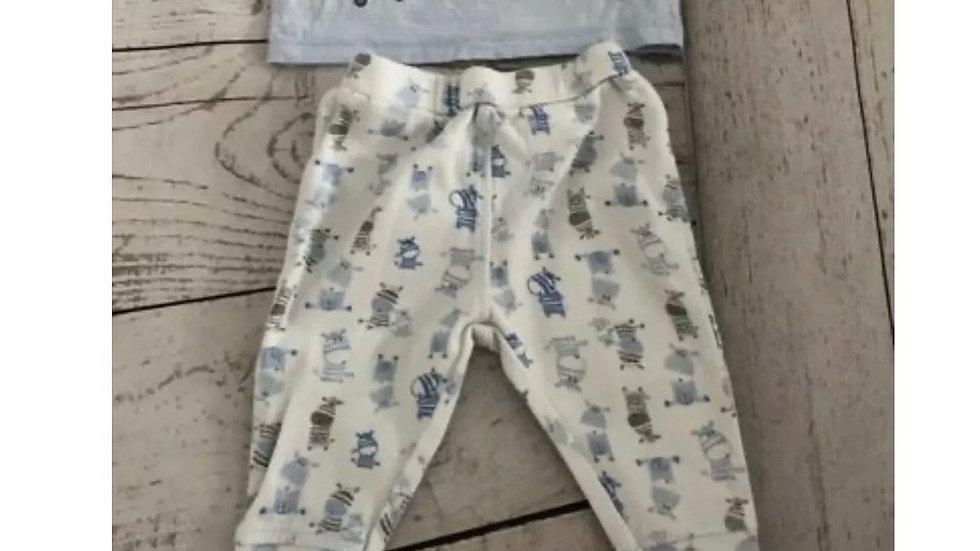 Baby Boys TU Best Friends Pyjama Set Upto 3 Months - Immaculate Condition