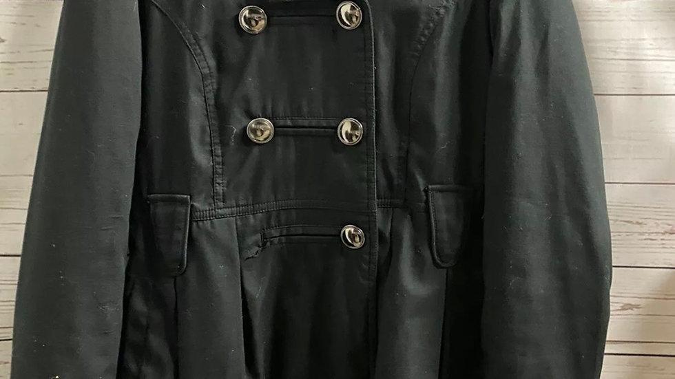 Girls New Look Black Jacket Coat Age 12-13 Years Missing Belt