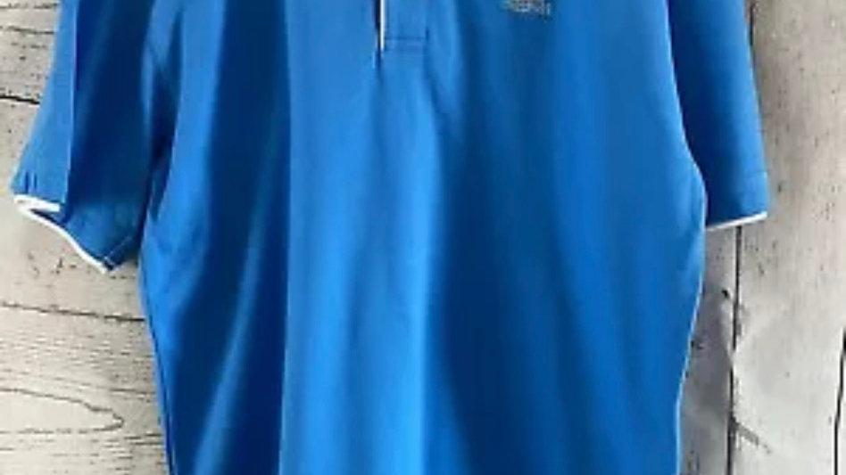 Mens Trespass Blue Polo Neck T-Shirt Size Medium - Excellent Condition