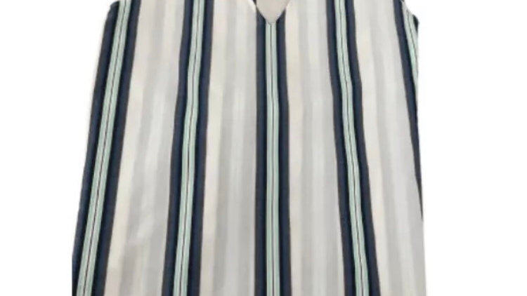 Womens / Ladies Marks & Spencer White Blue Stripe Top Size 22 New With Tags