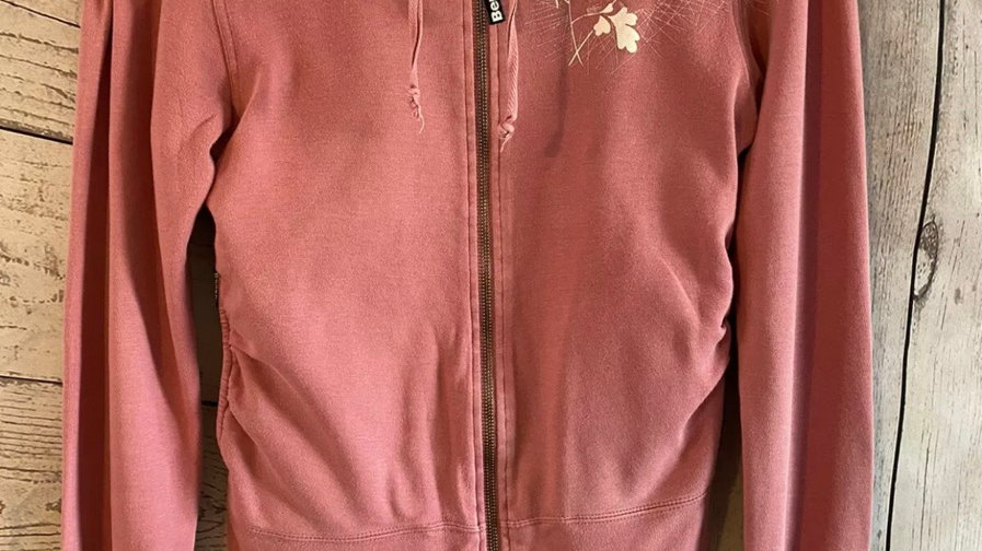 Womens / Ladies Bench Pink Full Zip Jacket Size Medium - Good Condition