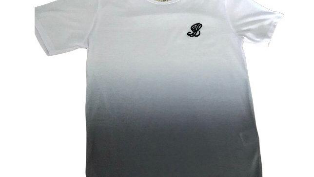Boys Illusive White & Grey T-shirt Age 13 - 14 Excellent