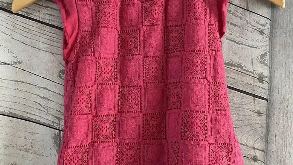 Girls Zara Pink Short Sleeve T-Shirt Age 6 Years Immaculate