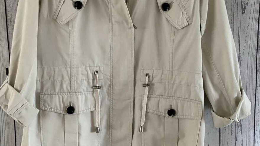 Womens / Ladies Maine Debenhams Beige Jacket Size 12 - Immaculate