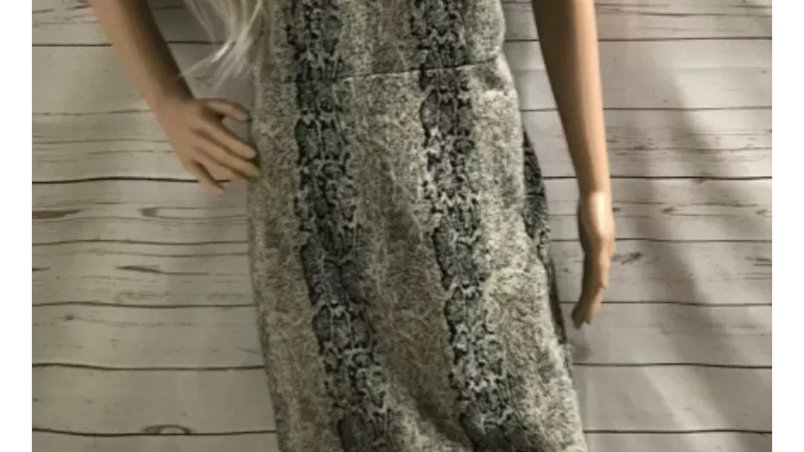 Womens / Ladies TU Snake Print Short Sleeve Dress Size 12 Missing Belt.
