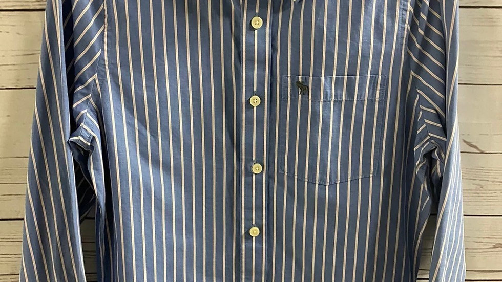 Mens Abercrombie & Fitch Blue Long Sleeve Shirt Size Small - Immaculate