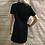 Thumbnail: Womens / Ladies M&Co Black Short Sleeve High Neck Black Dress 14 Petite
