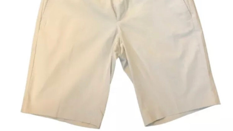 Womens / Ladies Banana Republic Cream Cotton Shorts Size 10 New With Tags