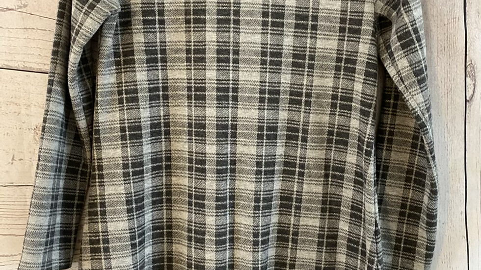 Girls Next Grey Check Long Sleeve Dress Age 12 Years Excellent Condition