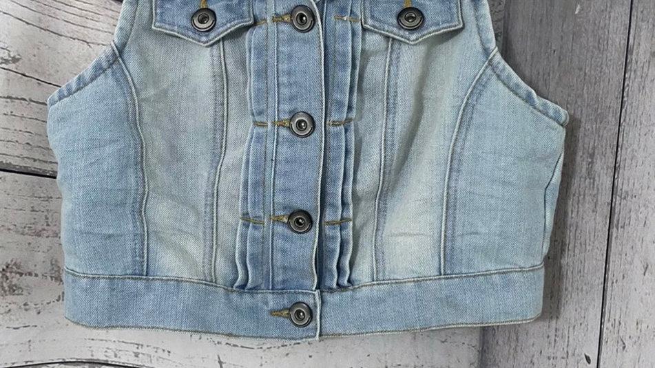 Womens / Ladies George Sleeveless Denim Jacket Size 12 Immaculate