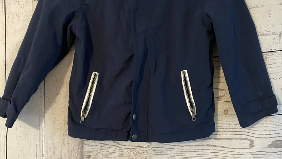 Boys Matalan Blue Light Jacket Fleece Lined Age 7 Years - Excellent Condition