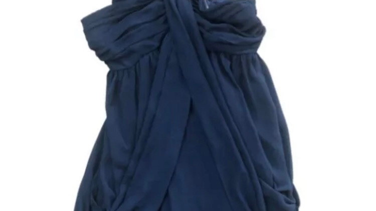 Womens / Ladies Lipsy Navy Dress Size 12 Excellent Condition
