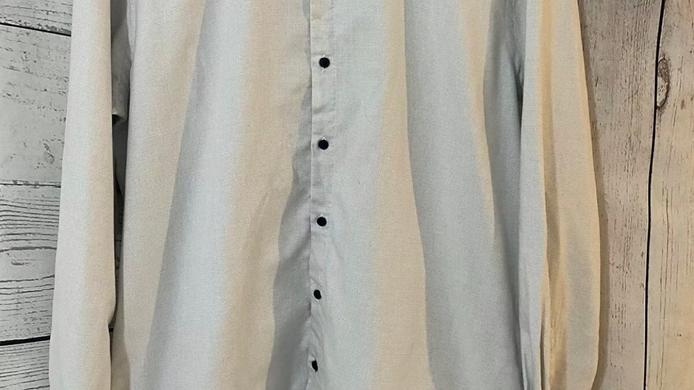 """Mens Skopes Contemporary Slim Fit Grey Check Shirt Size 17"""" Collar 43"""" Chest"""
