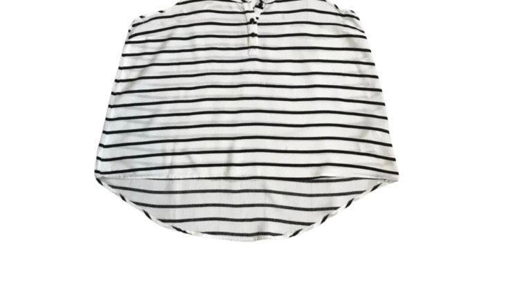 Women's / ladies H&M black and white stripe vest top size 12
