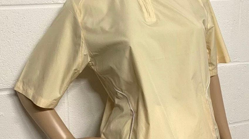 Women's / Ladies Golf CALLAWAY Yellow 1/4 Zip Short Sleeve Top Size Small