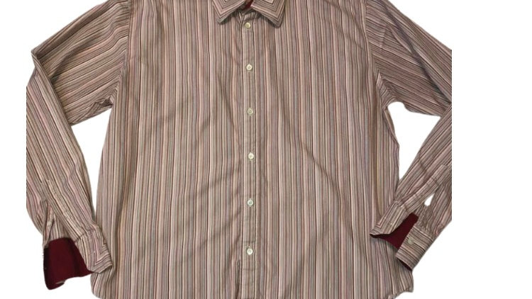 Mens Ted Baker Stripe Long Sleeve Shirt Size 6 - Immaculate Condition