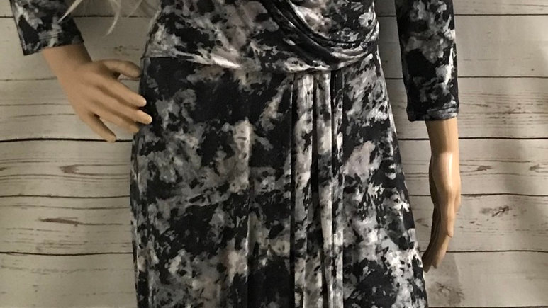 Womens / Ladies Marks & Spencer Silver Mix Dress Size 14 Immaculate