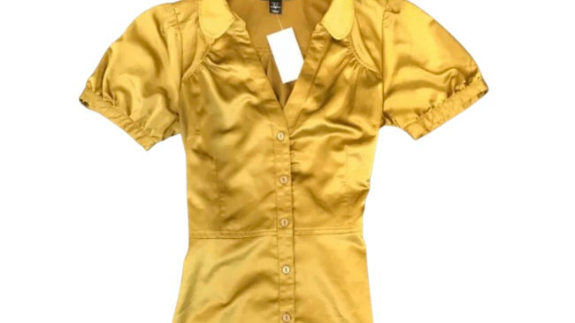 Women's  / ladies H and M khaki silky top size 6