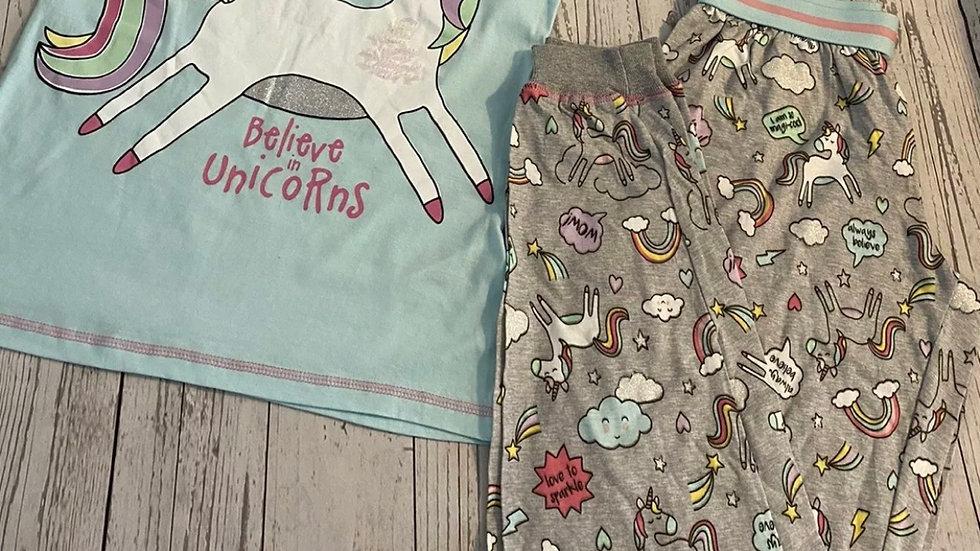 Womens / Ladies Primark Pyjamas Unicorn Trousers & Top Lounge Set Size 4 New Tag