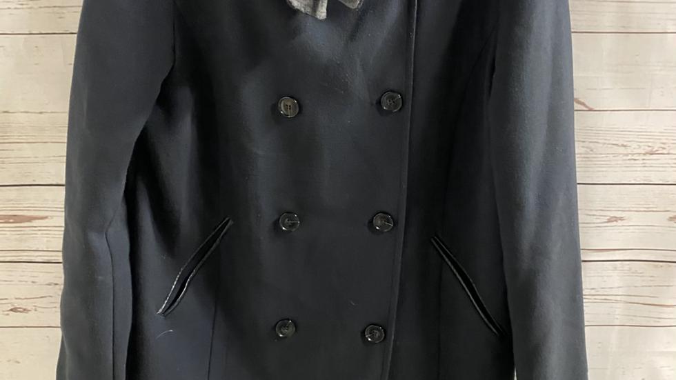 Womens / Ladies Next Navy Blue Coat Size 8 - Excellent Condition