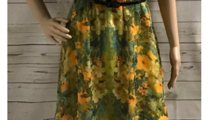 Womens / Ladies Atmosphere Summer Yellow Dress Size 10 Immaculate