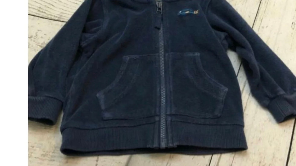 Boys Marks & Spencer Blue Hoodie Jacket Age 6-9 Months - Good Condition