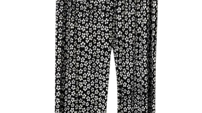 Womens / Ladies Urban Posion Light Weight Flow Trousers Black Whire Size S/M NEW