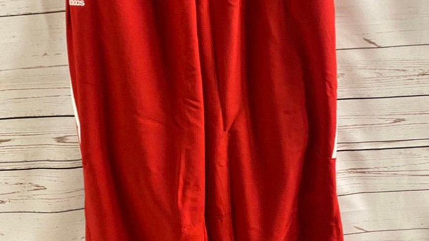 Men's Adidas red tracksuit bottoms new with tags Size large