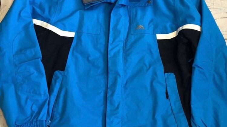 Mens Trespass Blue Waterproof Windproof Coat Size XL - Excellent Condition