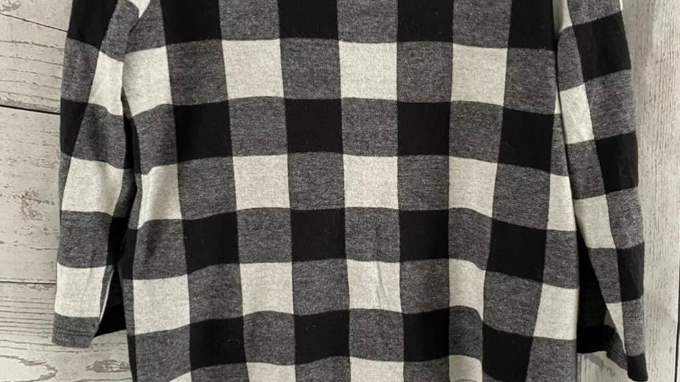 Womens / Ladies pimkie Collection Black White Soft Button Back Top Size Medium