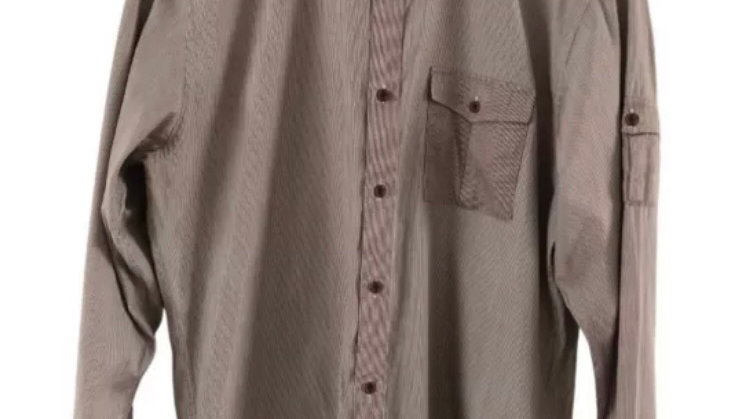 Mens Ted Baker Burgundy stripe Long Sleeve Shirt Size 4 (large) Immaculate