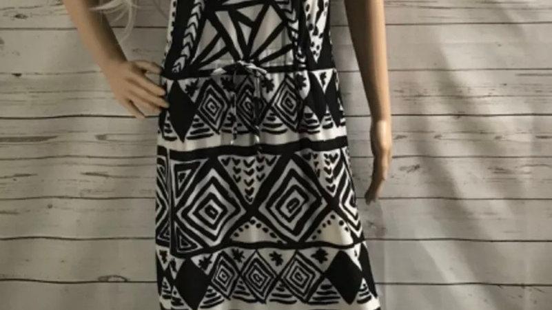 Womens / Ladies Brave Soul Black White Light Maxi dress Side Splits Size Large