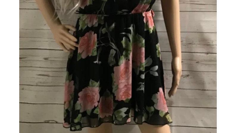 Womens / Ladies Zuppe Black Pink Floral Dress Size 10 Missing Belt
