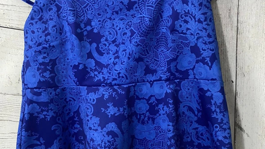 Womens / Ladies Dorothy Perkins Blue Blouse Frill Hem Top Size 20 Immaculate