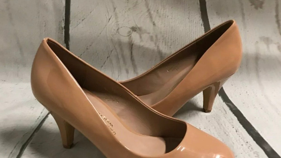 Women's / ladies Dorothy Perkins nude / peach shoes heel size 7 New