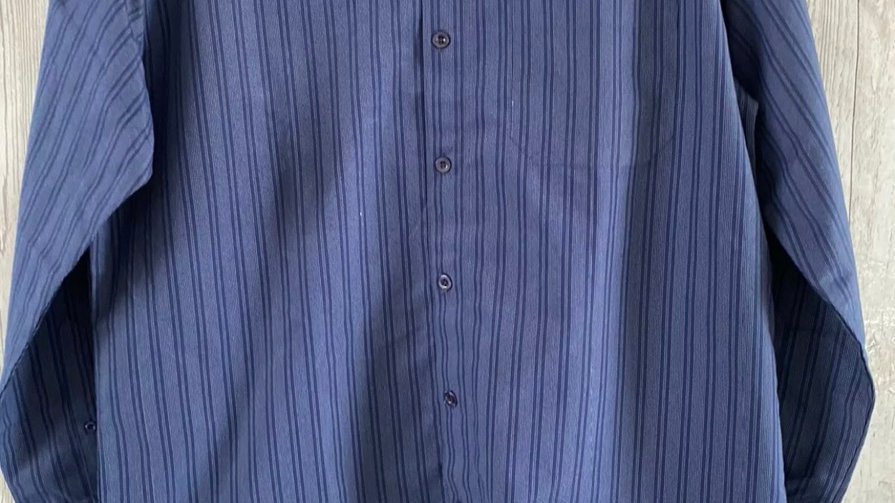 Mens Woodville Blue Stripe Long Sleeve Shirt Size Large New With Tags