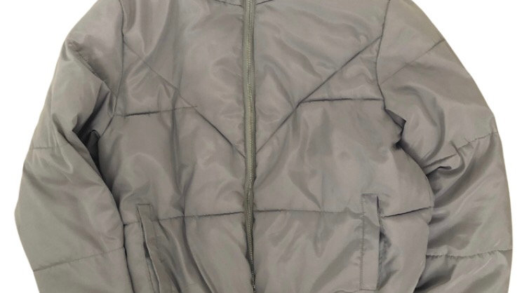 Girls New Look Silver / Grey Padded Coat Age 14-15 Years Excellent Condition