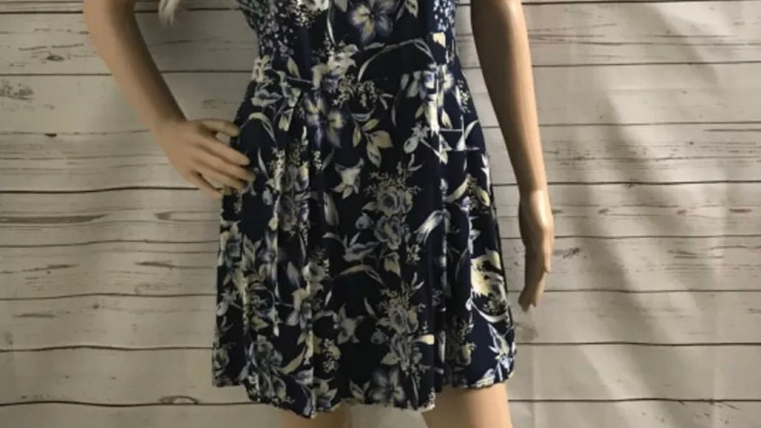 Women's /ladies Navy multi Paramour dress size 12 new with tag
