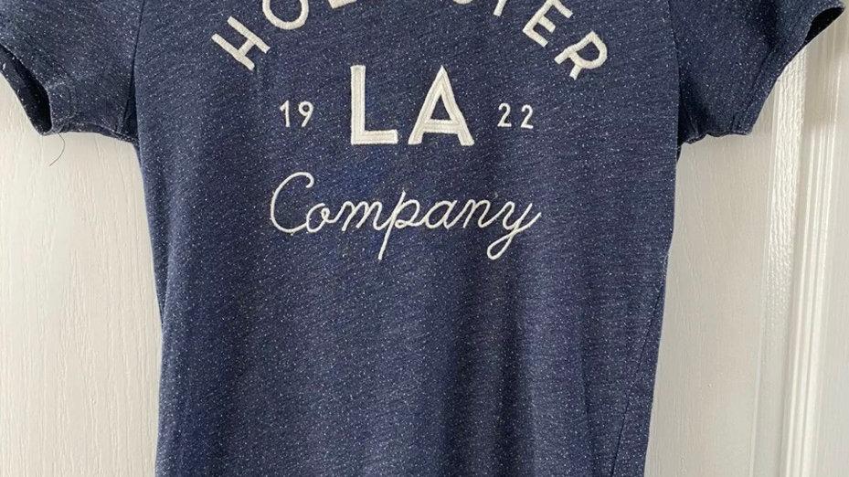 Womens / Ladies Hollister Blue Short Sleeve T-Shirt Size Small fair Condition