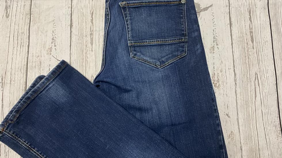 "Mens Crosshatch Blue Denim Jeans Slim Fit Size 30"" Regular Immaculate"