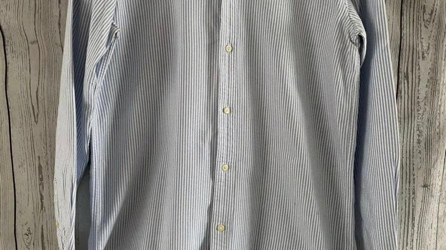 Womens / Ladies Ralph Lauren Blue White Stripe Shirt Size 20 Immaculate Conditio