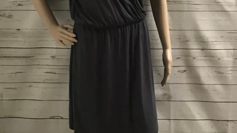 Women's / Ladies Warehouse Grey Dress Cross Top Diamonte Shoulders Size 12