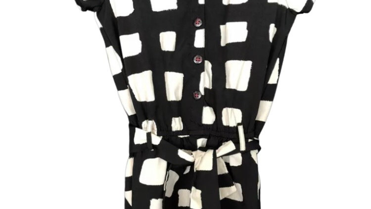 Girls Next Playsuit Age 7 Years Square Print Immaculate