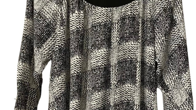 Womens / Ladies Debenhams Black White 3/4 Sleeve Blouse Top Size 14 - Immaculate