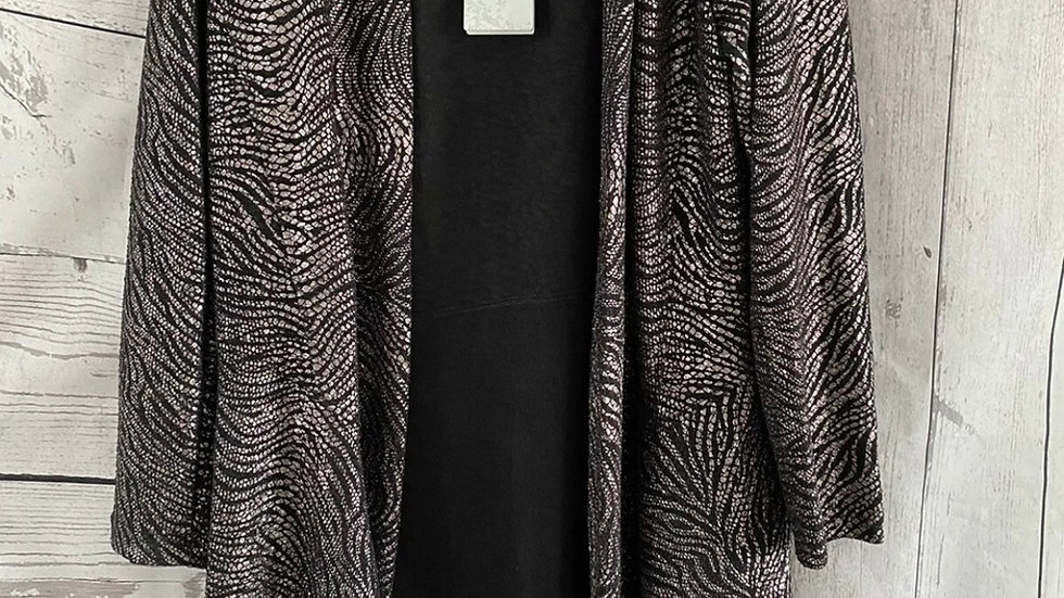 Womens / Ladies Chianti Gold & Black Hang Cardigan Size 10 New With Tags